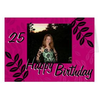 Foto-alles- Gute zum Geburtstagkarte - rosa Grußkarte