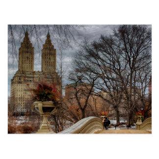 Foto an der Bogen-Brücke in Central Park, NYC Postkarte