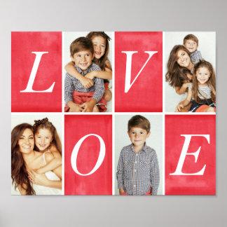 Foto-Collage der Chic-Liebe-4 Poster