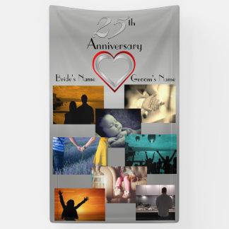 Foto-Collagen-25. Hochzeits-Jahrestag Banner