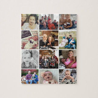 Foto-Collagen-Familien-Fotos Puzzle