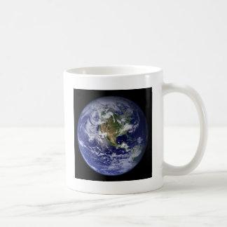 Foto der Westhemisphäre der Erde Tasse