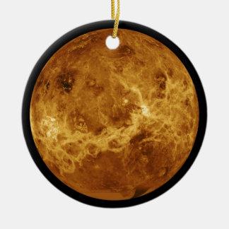 Foto des Vénus-Planeten Rundes Keramik Ornament
