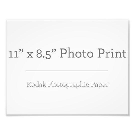 27,94cm x 21,59cm, Kodak Premium Foto-Papier (Satin)