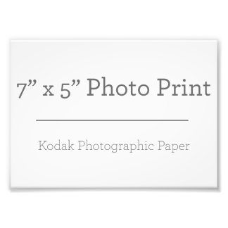 Foto-Druck der Gewohnheits-7 x 5 Fotografische Drucke