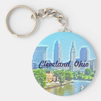 Foto-Farbe Riverview Keychain Clevelands, OH- Schlüsselanhänger