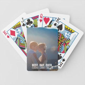 Foto-Gastgeschenke Hochzeit schafft Ihren eigenen Bicycle Spielkarten
