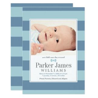 Foto-Geburts-Mitteilungen   unser kleiner Mann 12,7 X 17,8 Cm Einladungskarte
