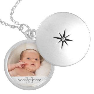 Foto-Geschenk-Halskette - weißes Monogramm, kunden Medaillon