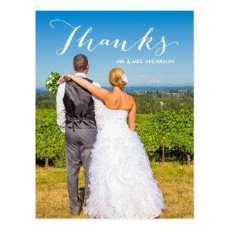 Foto-Hochzeit der Dankbarkeits-| danken Ihnen Postkarte