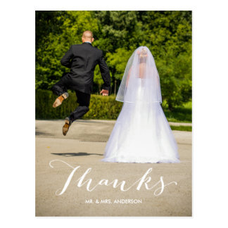 Foto-Hochzeit der Kalligraphie-| danken Ihnen Postkarte