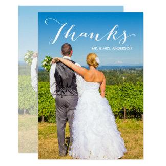 Foto-Hochzeit des Dankbarkeits-Skript-| danken 12,7 X 17,8 Cm Einladungskarte