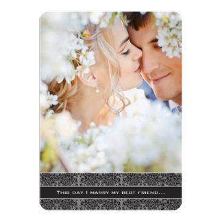 Foto-Hochzeits-Einladung heirate ich meinen besten Karte