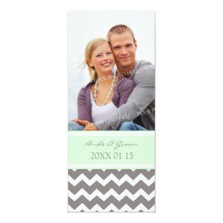 Foto-Hochzeits-Einladungs-graues tadelloses 10,2 X 23,5 Cm Einladungskarte