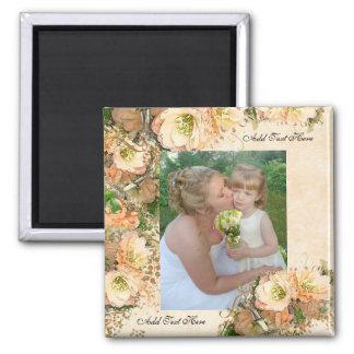 Foto-Hochzeits-Magnet Quadratischer Magnet