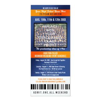Foto-Karten-Klassen-Wiedersehen-Einladung 10,2 X 23,5 Cm Einladungskarte
