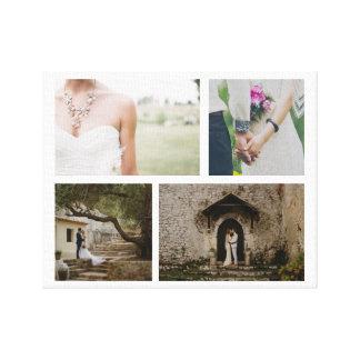Foto-Minimalist der Hochzeits-Paar-vier Leinwanddruck