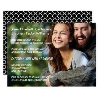 Foto - Mitteilung der Hochzeits-3x5 Karte