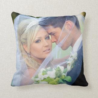 Foto-Monogramm nennt Hochzeits-Andenken-Kissen Zierkissen