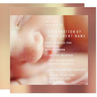 Foto neues Baby-Duschen-Party-Kupfer-Rosa Karte
