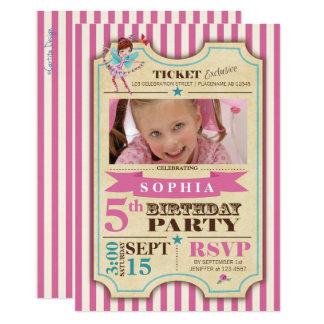 Foto-Party Einladung der Ballett-Karten-| des