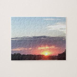 Foto-Puzzlespiel des Sonnenuntergang-8x10 mit Puzzle