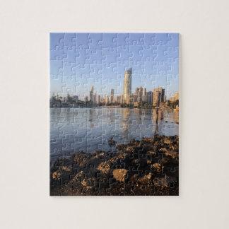 Foto-Puzzlespiel von Surfers-Paradies Skyline. Jigsaw Puzzle