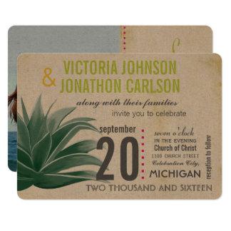 Foto-saftiges Aloe-RosaLimone Hydrangea-Hochzeit 12,7 X 17,8 Cm Einladungskarte