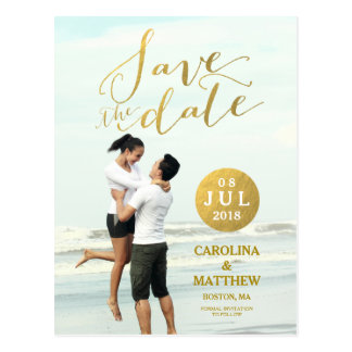 Foto-Save the Date Postkarte des