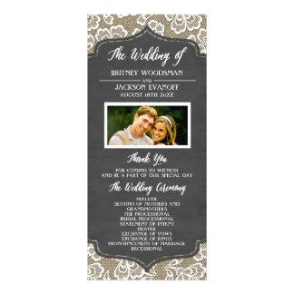 Foto-Tafel-Leinwand-Spitze-Hochzeits-Programme Vollfarbige Werbekarte