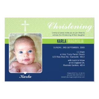 FOTO-TAUFE LADEN: EIN: Frieden 2 L 12,7 X 17,8 Cm Einladungskarte