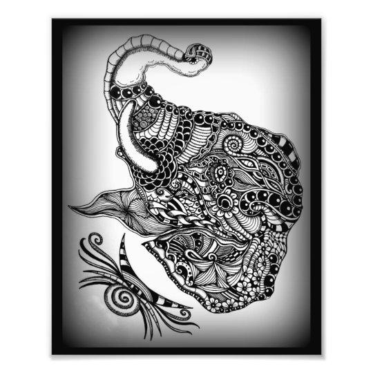 Foto-Vergrößerung ZenZia Elefant Fotodruck