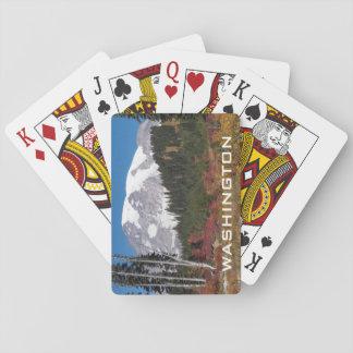Foto Washingtons der Mount Rainier Spielkarten