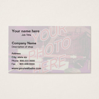 Foto-Wasserzeichen-Hintergrundschablone Visitenkarten