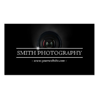 Fotograf-moderne Kameraobjektiv-Fotografie Visitenkarten