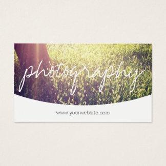 Fotograf-Skript-kundenspezifische Abdeckungsbild Visitenkarte
