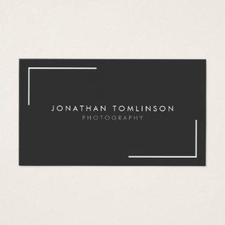 Fotografen modern und minimaler Rahmen dunkelgrau Visitenkarte
