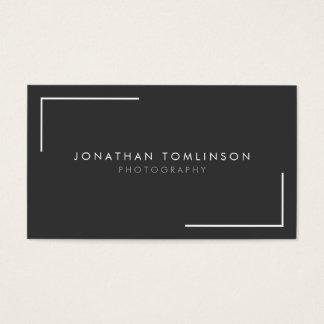 Fotografen modern und minimaler Rahmen dunkelgrau Visitenkarten