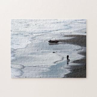 Fotografie: Meer, das kommt, an der Dämmerung Puzzle