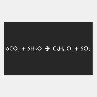 Fotosynthese-Gleichung Rechteckiger Aufkleber