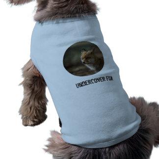 Fox Auf Wiedersehen Ärmelfreies Hunde-Shirt