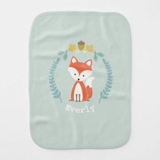 Fox-Kranz-Babyburp-Stoff - Mädchen Baby Spucktuch