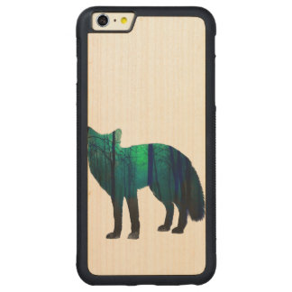 Fox-Silhouette - Waldfuchs - Fuchskunst - wildfox Carved® Maple iPhone 6 Plus Bumper Hülle