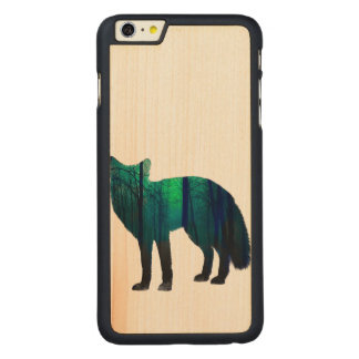 Fox-Silhouette - Waldfuchs - Fuchskunst - wildfox Carved® Maple iPhone 6 Plus Hülle