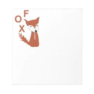 Fox-Waldgeschöpf Notizblock