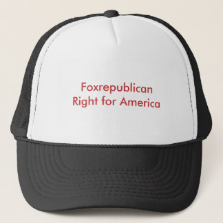Foxrepublican Recht für Amerika Truckerkappe