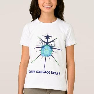 frac blaues alien-Shirt, mit Ihrer Mitteilung! T-Shirt