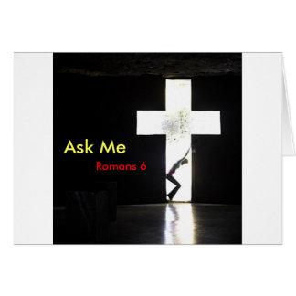 """Fragen Sie mich """"im Quer """" Karte"""