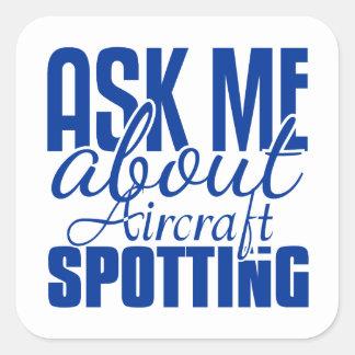 Fragen Sie mich über Flugzeug-Aufdeckung Aufkleber