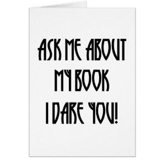fragen Sie mich über meinen Buch-T - Shirt Karte
